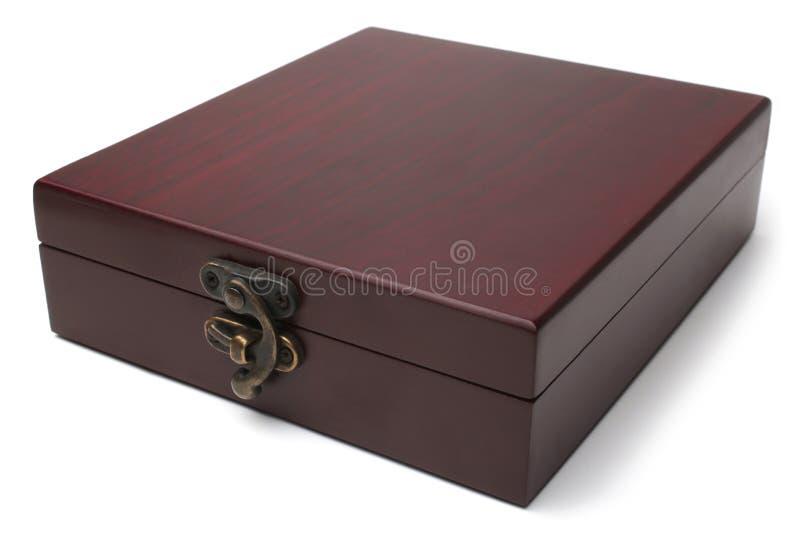box isolated wooden royaltyfri bild