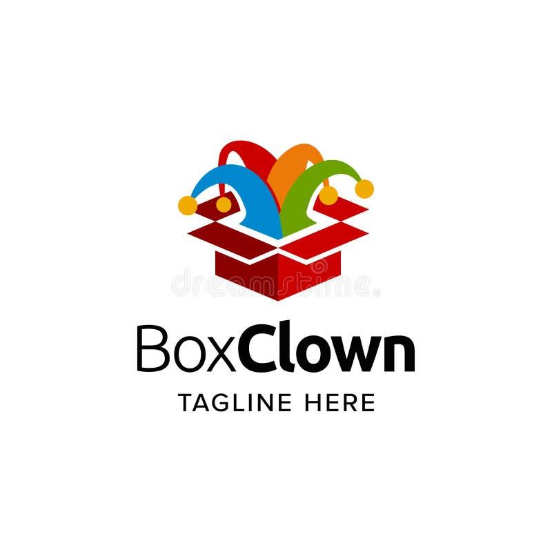 Box jester clown logo vector inspiration royalty free stock photography