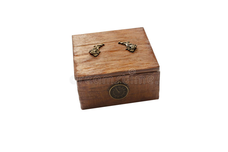 Box for jewelry. Wooden box for jewelry in the blanching technique royalty free stock photography