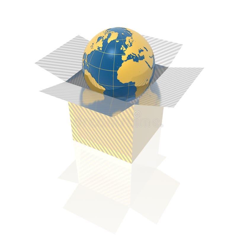box jordklotet vektor illustrationer