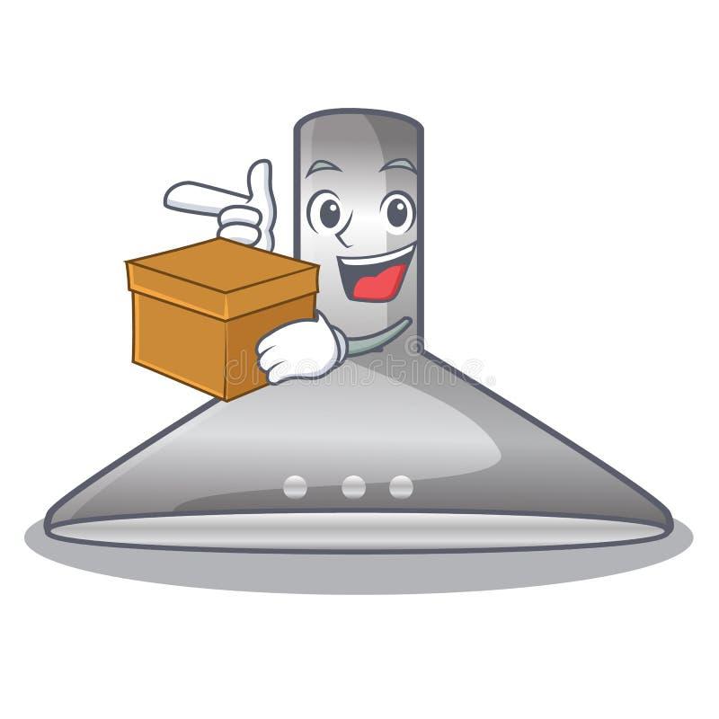 With box kichen hood in the mascot shape. Vector illustration stock illustration