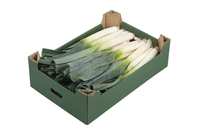 Download Box of Leeks stock photo. Image of vitamin, vegetables - 17296198