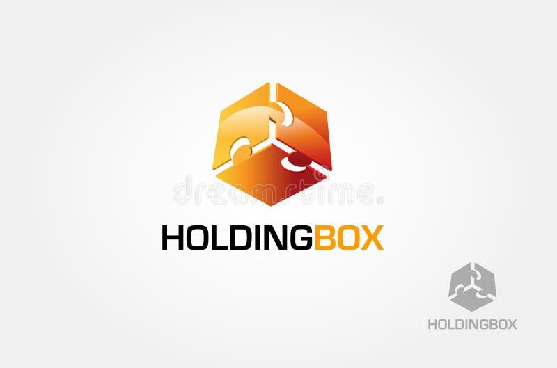 Holding box 3D Logo royalty free stock photos