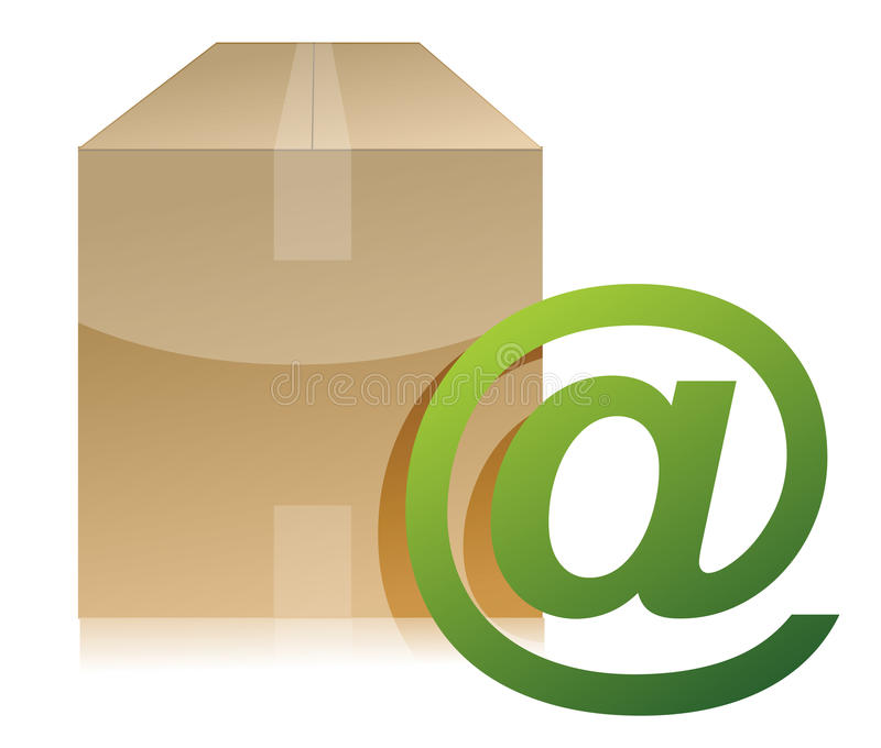 Download Box And Mail Sign Illustration Design Stock Illustration - Image: 27497442