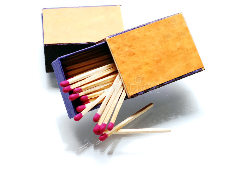 box matchen arkivfoton