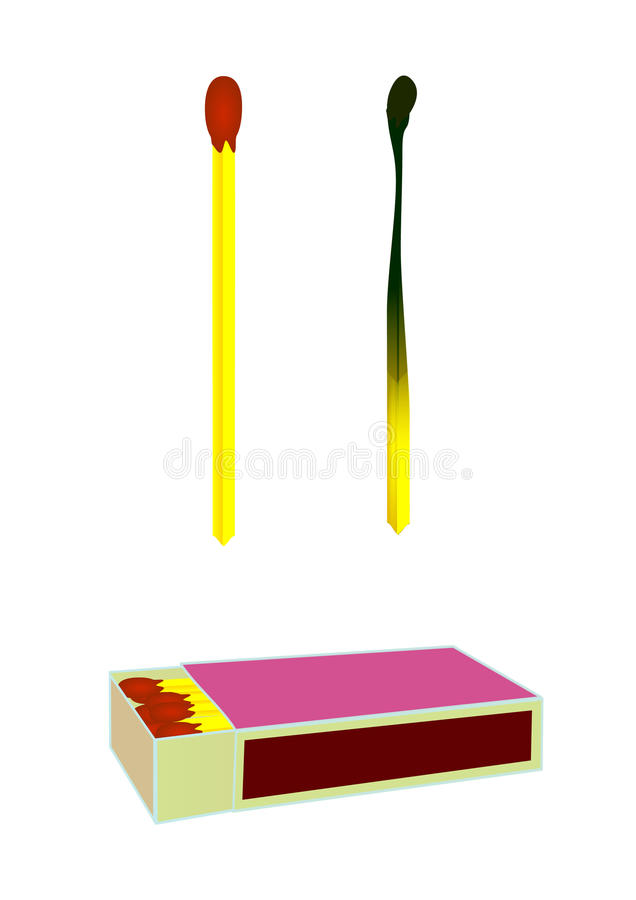 A box of matches stock illustration