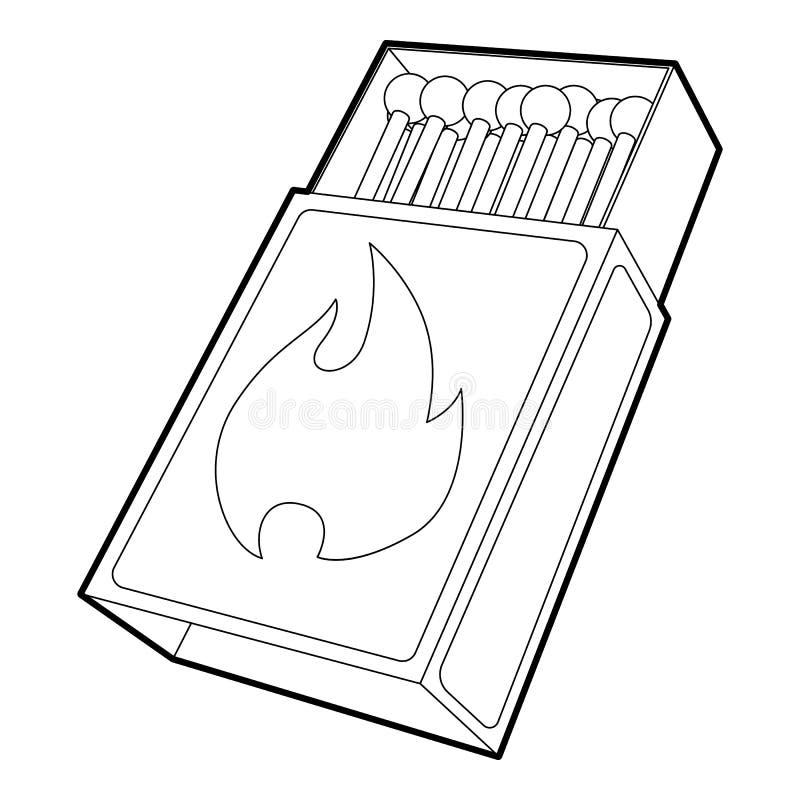 Free Box Matches Icon , Outline Style Stock Photo - 86055910