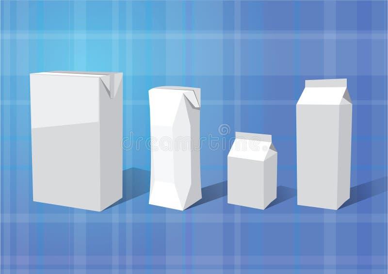 Box_for_milk royalty-vrije illustratie