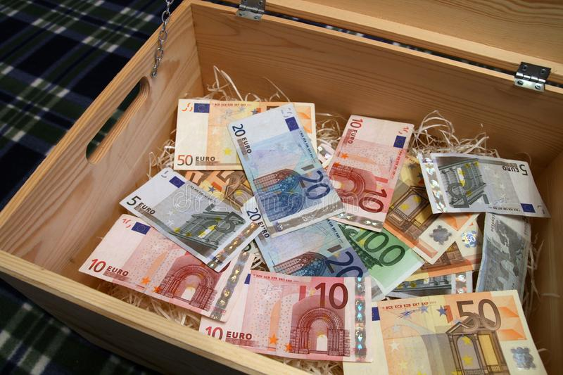 Box of money royalty free stock photography