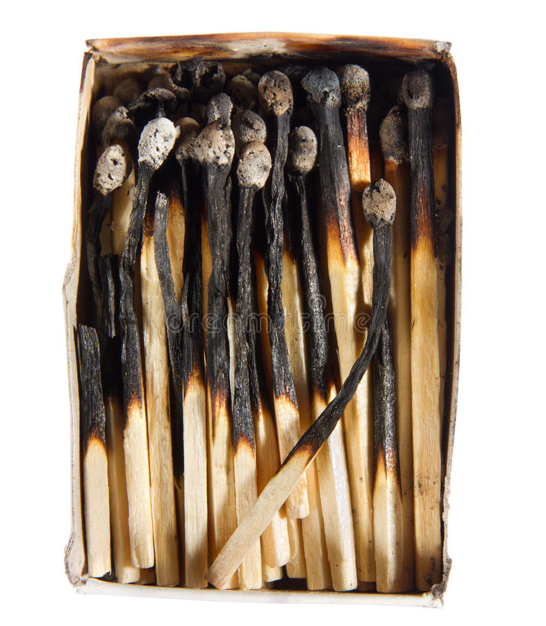 Free Box Of Burned Matches Royalty Free Stock Photos - 15274268