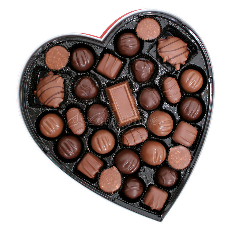 Free Box Of Chocolates In A Heart Shape (8.2mp Image) Stock Photo - 55510