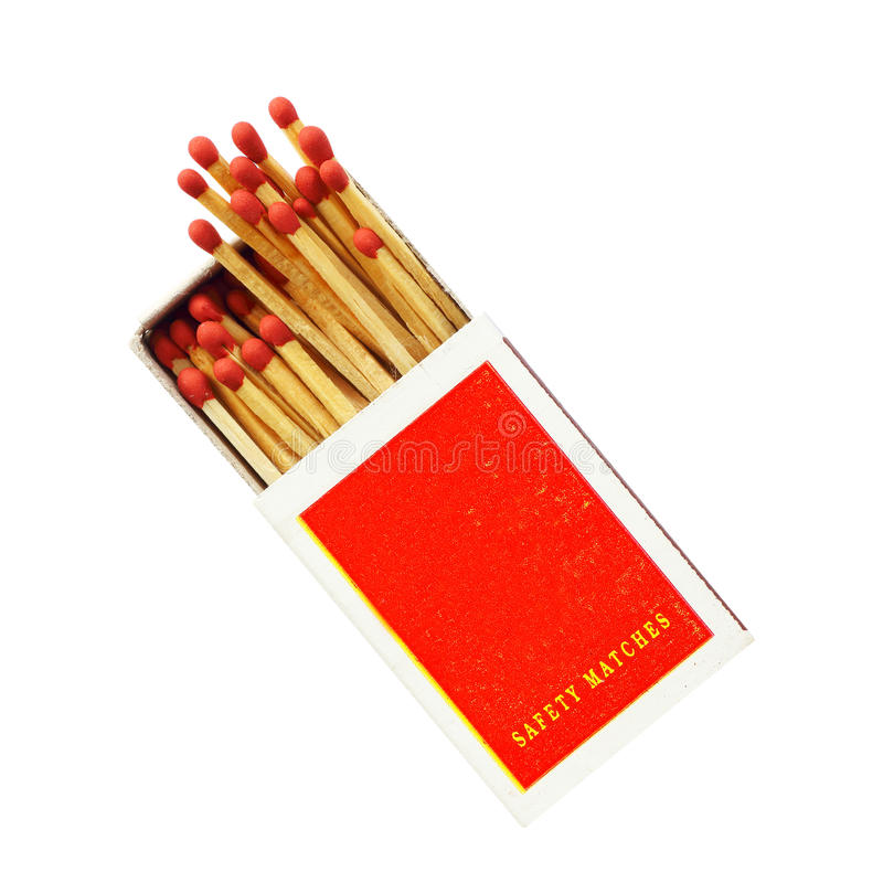 Free Box Of Matches Isolated On White Stock Images - 97777414