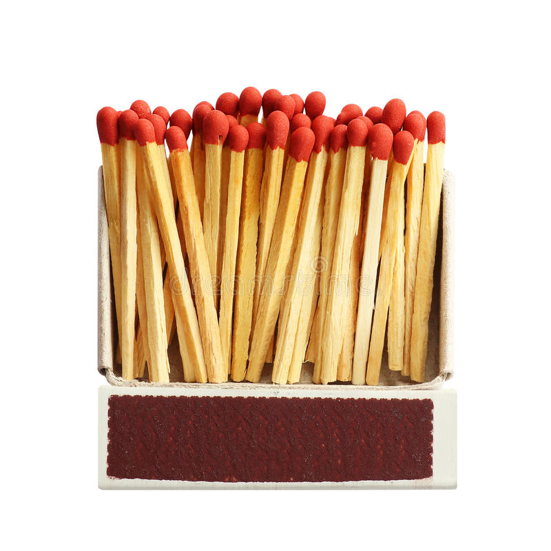 Free Box Of Matches Isolated On White Stock Photo - 97777450