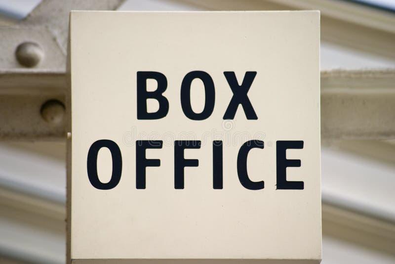 Box Office Sign stock photos