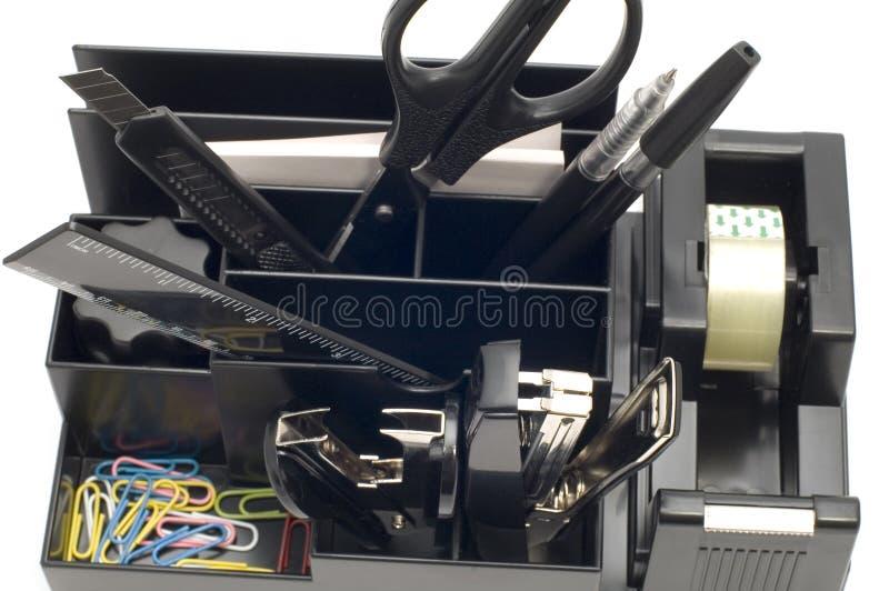 Box for office tool macro stock photo