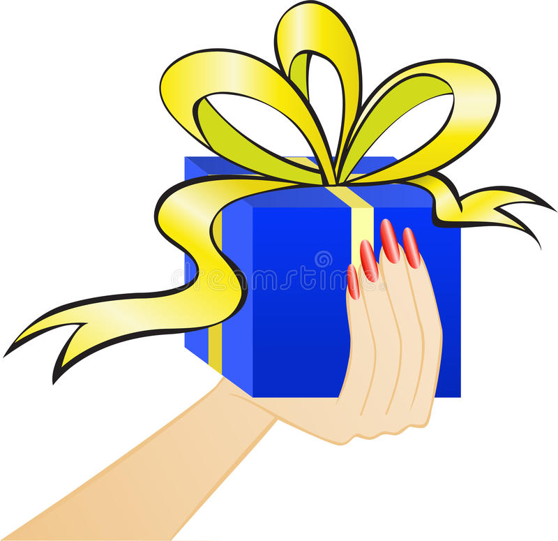 Free Box On The Palm Royalty Free Stock Photos - 17244188
