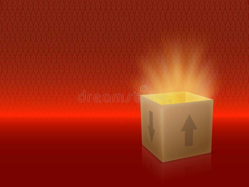 Box open stock illustration