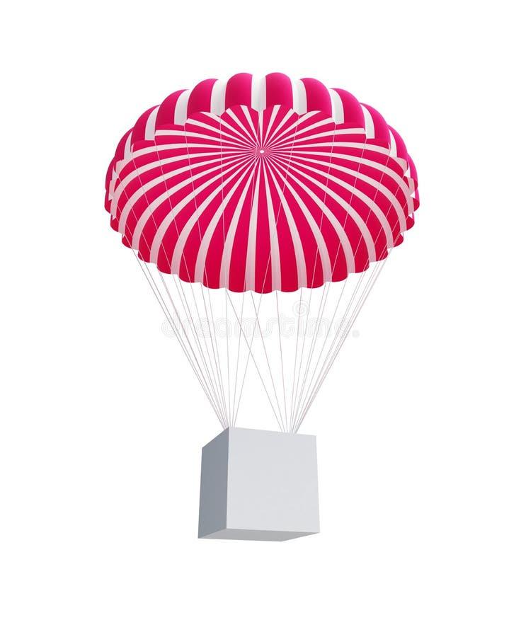 Download Box And Parachute Royalty Free Stock Photos - Image: 15869458