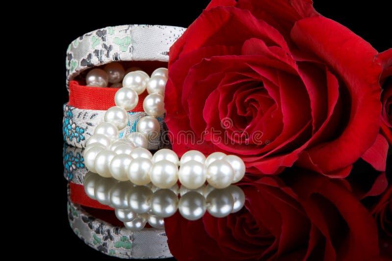 Box of pearls royalty free stock photo