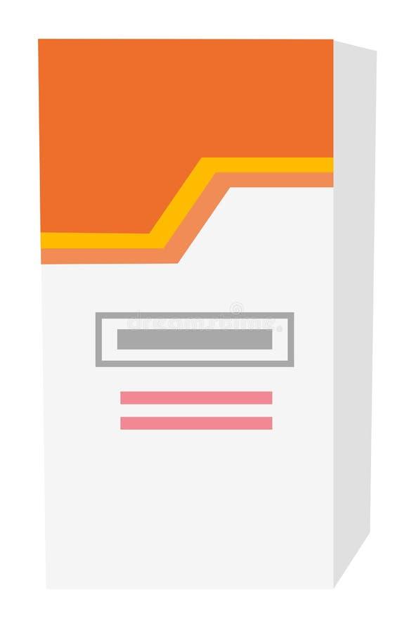 Box with pills vector cartoon illustration. royalty free illustration