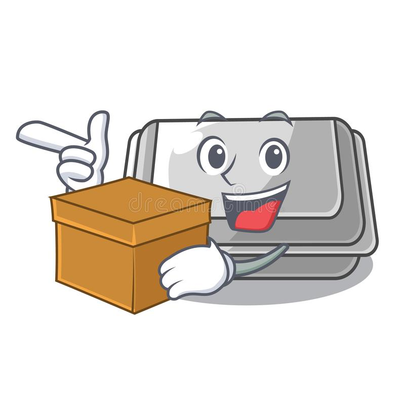 With box plastic box in the mascot shape. Vector illustration vector illustration