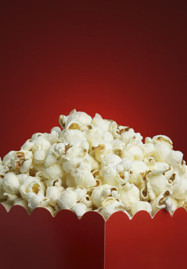 Box of popcorn royalty free stock images