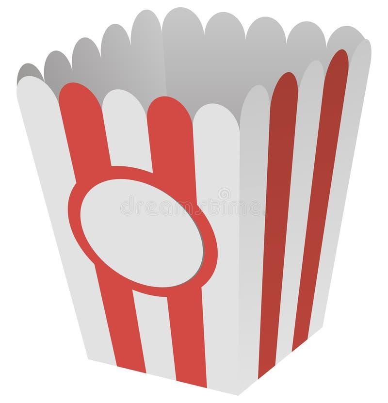 Box of popcorn. Popcorn box made of cardboard. Vector illustration royalty free illustration
