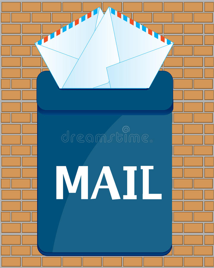 Box postal with letter royalty free illustration