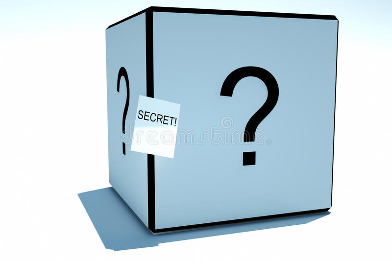 Box With A Secret Stock Photo