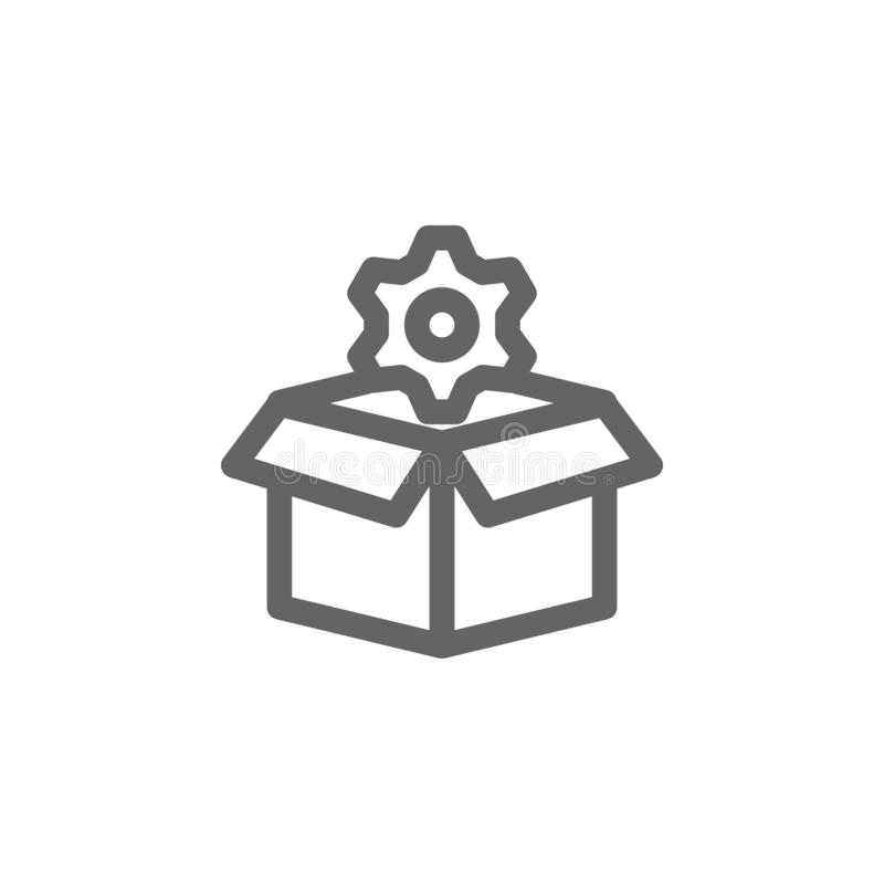 Box settings gear icon. Element of simple icon vector illustration