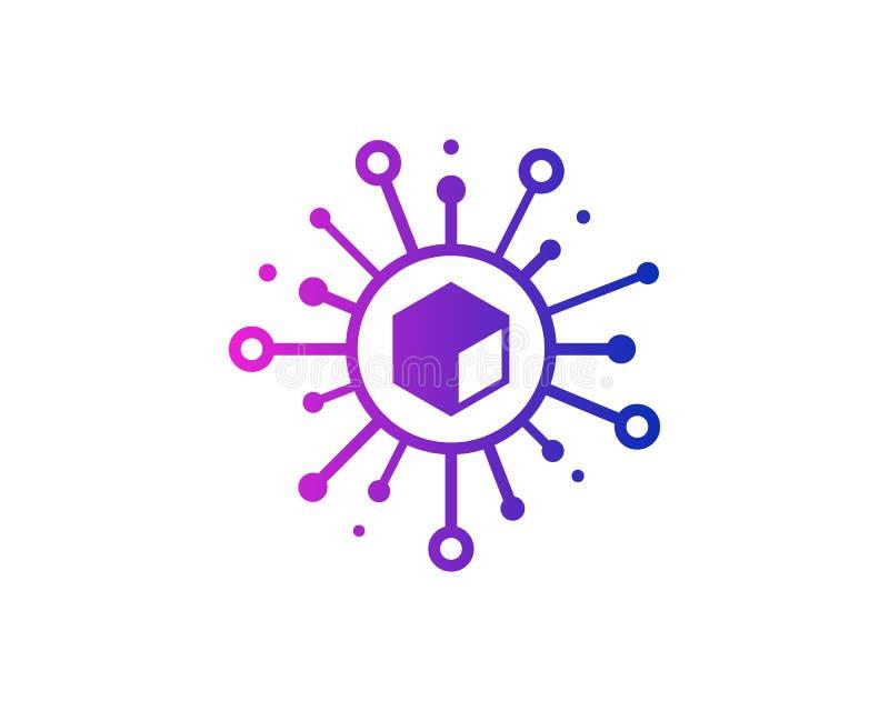 Box Share Icon Logo Design Element vector illustration