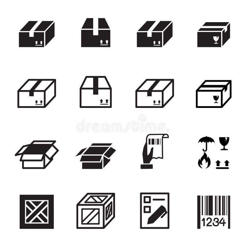 Box , Shipping & Logistics icons set vector illustration