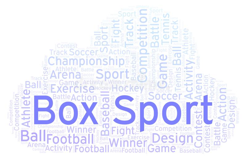 Box Sport word cloud. Made with text only royalty free illustration