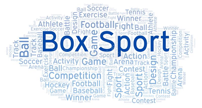 Box Sport word cloud. Made with text only vector illustration