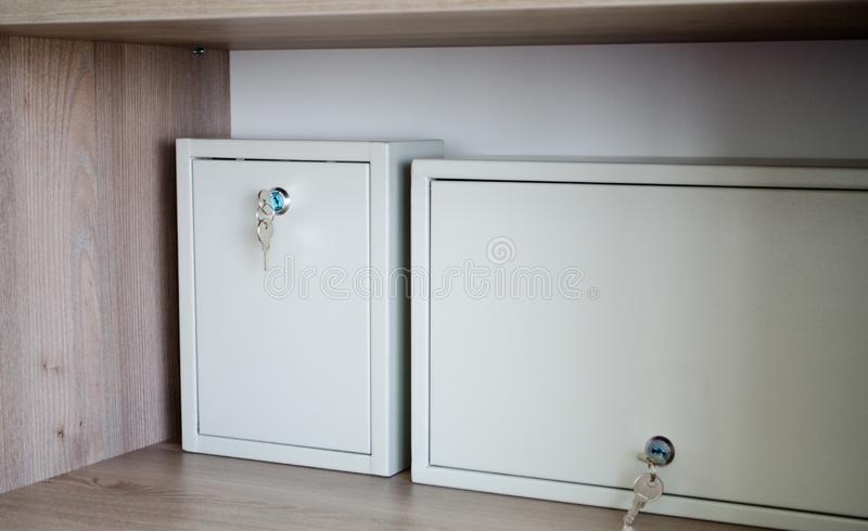 Box storage in office royalty free stock photos