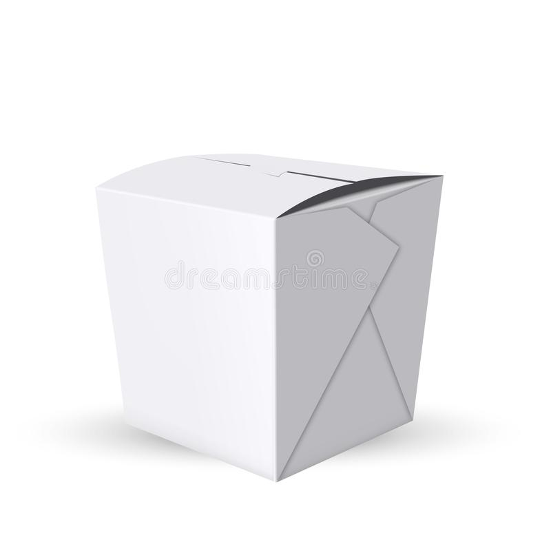 Box For Take Away Food From Restaurant Vector stock illustration