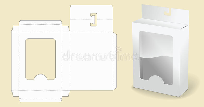 Box template. Packaging. White Cardboard Box. Opened White Cardboard Package Box. vector illustration