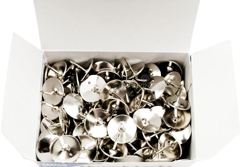 Download Box of thumbtacks stock photo. Image of stationery, equipment - 28005500