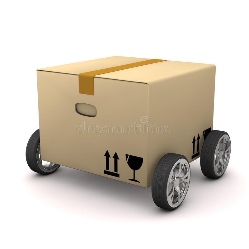 Box With Tires. On the white background vector illustration