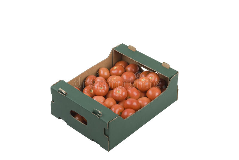 Box of Tomatoes stock photos