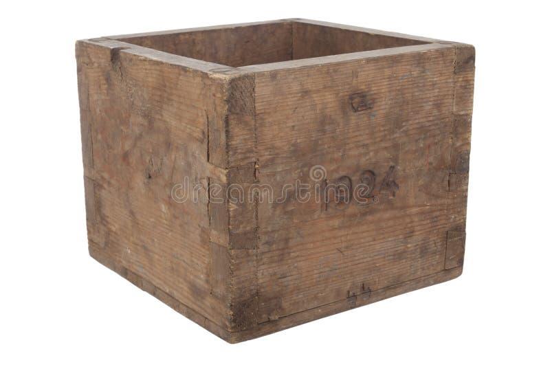 box tomt gammalt trä royaltyfri bild
