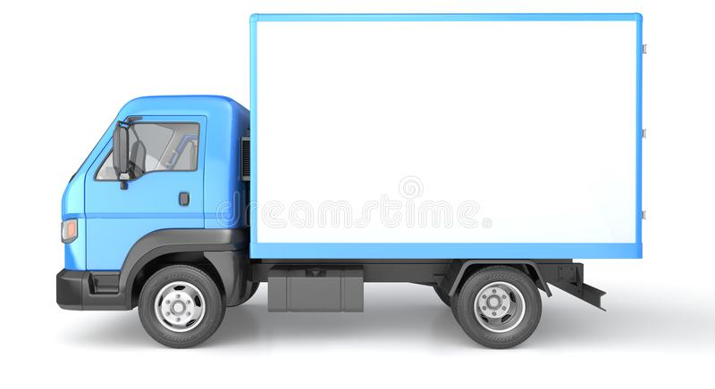 Box truck isolated on white vector illustration