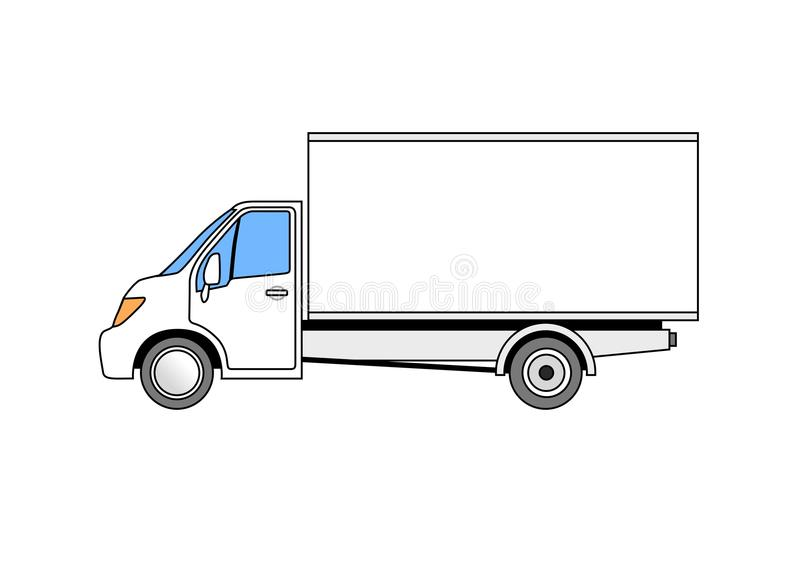 white van stock vector  illustration of payload  cargo