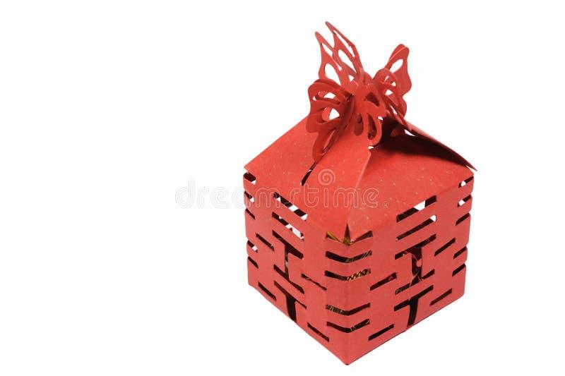 A box of wedding candies stock photos