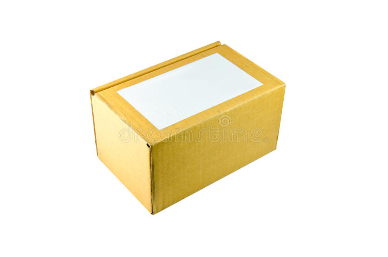 Box on the white background. A Carton with white background stock image