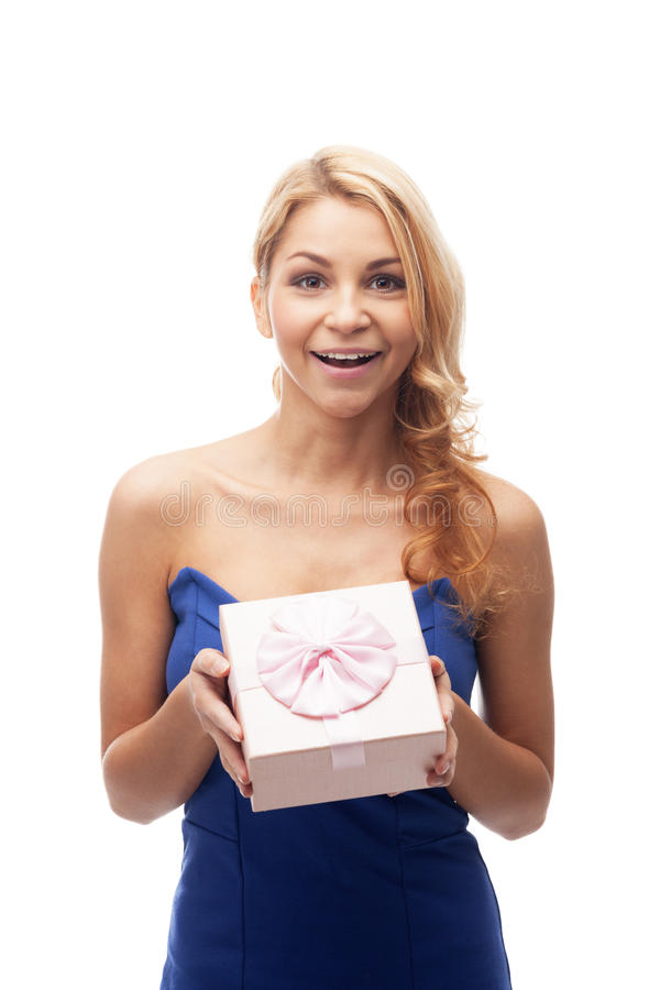 Download This box is for you stock photo. Image of girl, showing - 28906414