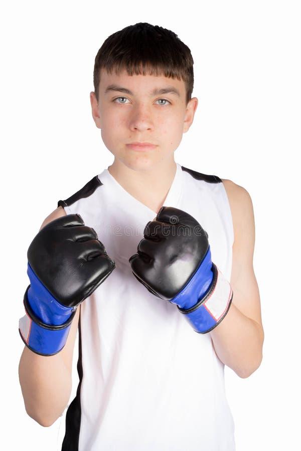 Boxare f?r ton?rs- pojke arkivbild