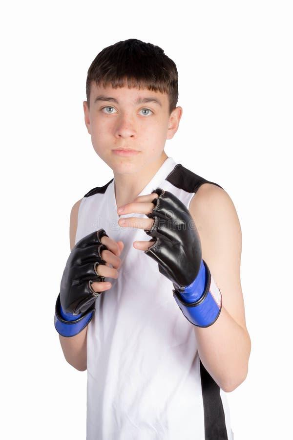 Boxare f?r ton?rs- pojke arkivbilder