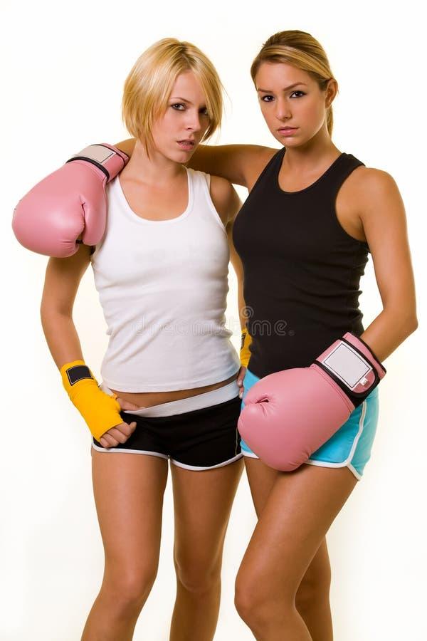 boxare sexiga två arkivbild