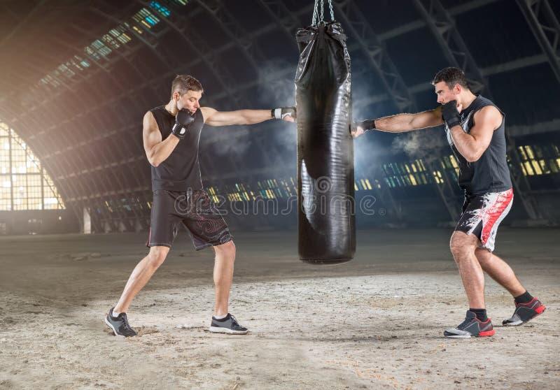 boxare två royaltyfri bild